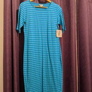 Lularoe Julia Dress Size M Turquoise